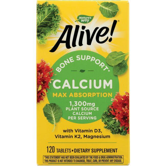 Nature S Way Alive Calcium Bone Formula  Tabs