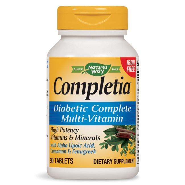 Nature's WayCompletia Diabetic Multi-Vitamin - Iron Free