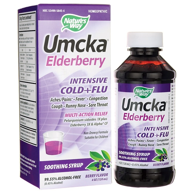 Nature's WayUmcka Elderberry Intensive Cold+Flu - Berry Flavor