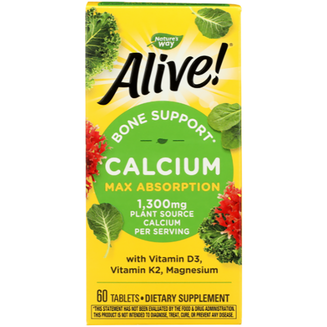 Nature S Way Alive Calcium Bone Formula Max Absorption  Tabs