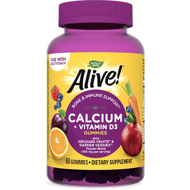 Nature's WayAlive! Calcium Gummies Plus Vitamin D3