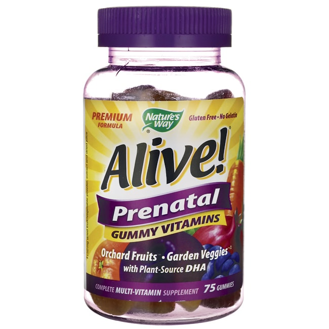 Nature's Way Alive! Prenatal Gummy Vitamins 75 Gummies - Swanson ...