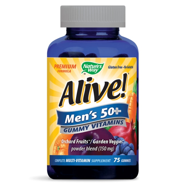 Nature's WayAlive! Men's 50+ Gummy Vitamins