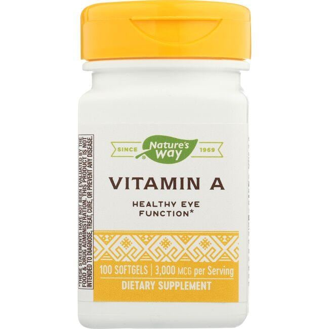 Promotes cellular integrity Features vitamin A derived from Atlantic cod liver oil 10,000 IU of vitamin A per serving Nature's Way Vitamin A 10,000 Iu 100 Soft Gels Sold by Swanson Vitamins