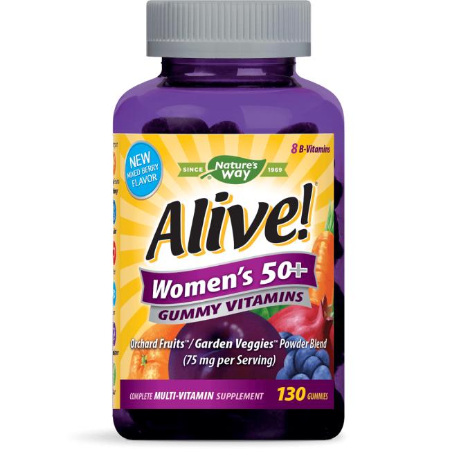 Nature's WayAlive! Women's 50+ Gummy Vitamins - Mixed Berry