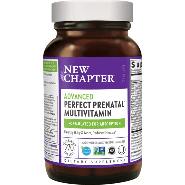 New Chapter Multivitamínico Perfect Prenatal Tamaño para un trimestre co