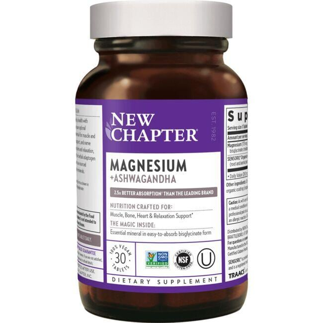New Chapter Magnesium + Ashwagandha