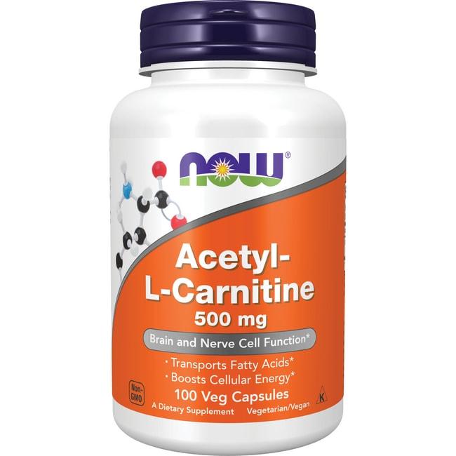 Los Aminoácidos AHORA alimentos acetil L-carnitina 500 mg 100 Veg tapas Productos para tu Salud en Veo y Compro  + L-carnitina en Veo y Compro