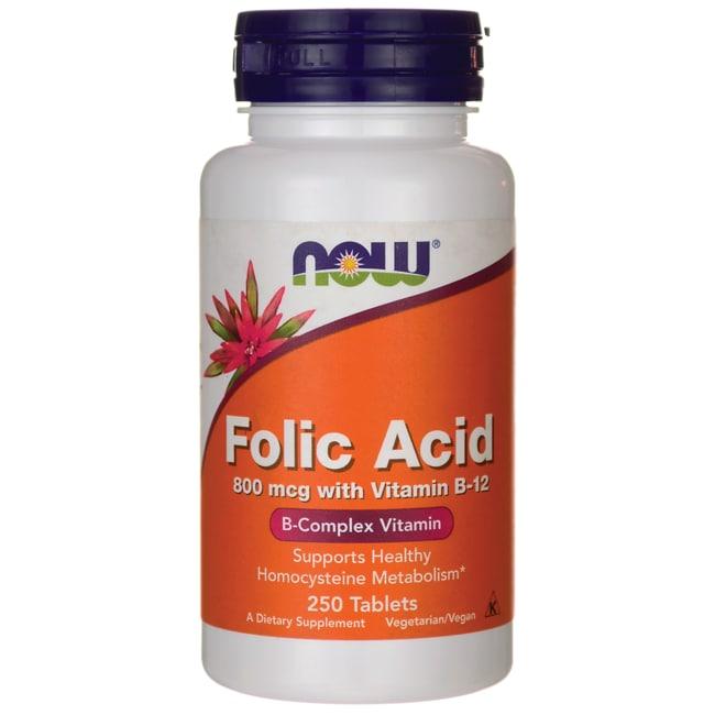 NOW Foods Folic Acid 800 mcg with Vitamin B-12
