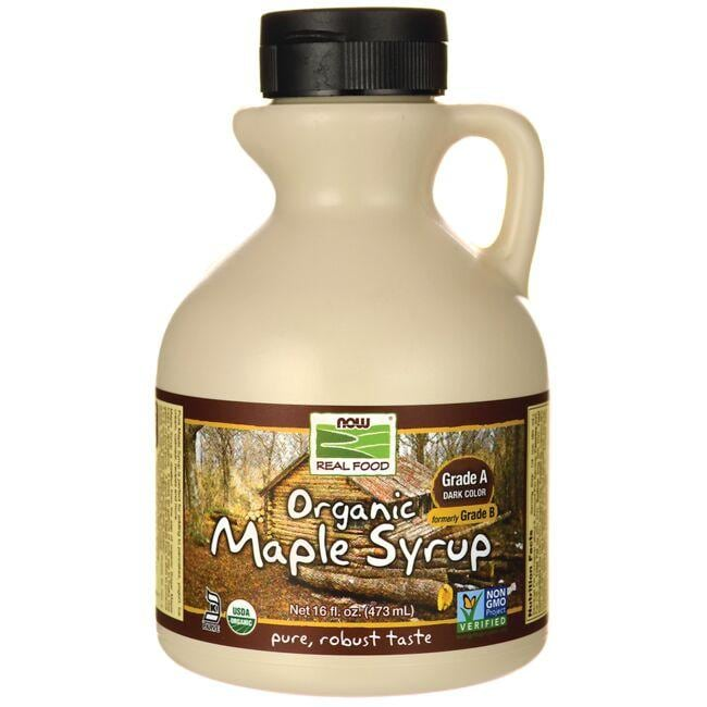 NOW Foods Grade A Dark Color Organic Maple Syrup