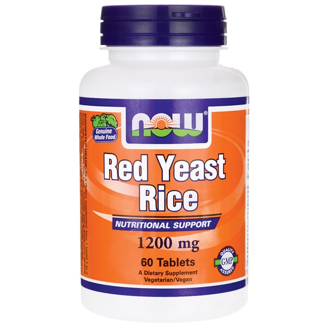 NOW Foods Red Yeast Rice Extract 1,200 mg 60 Tabs