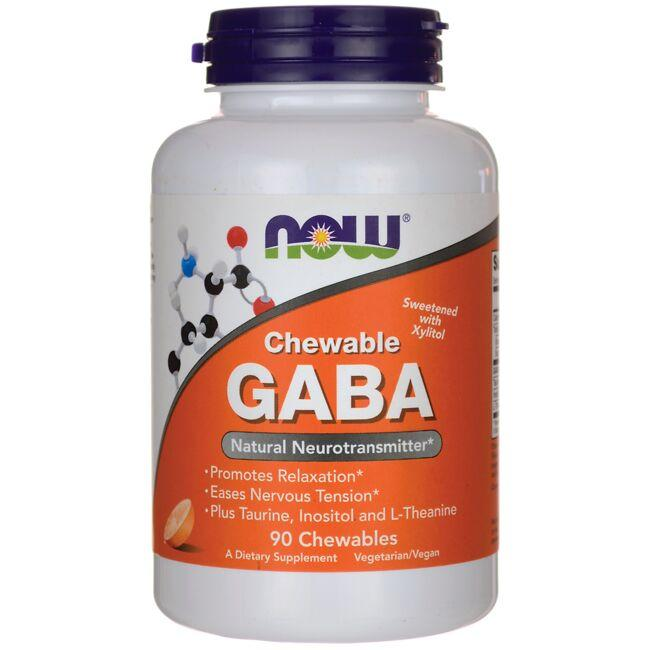 NOW Foods Chewable GABA - Orange