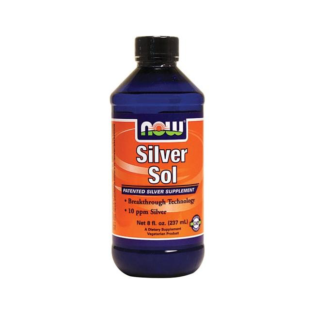 Now Foods Silver Sol 8 Fl Oz Liquid Swanson Health Products