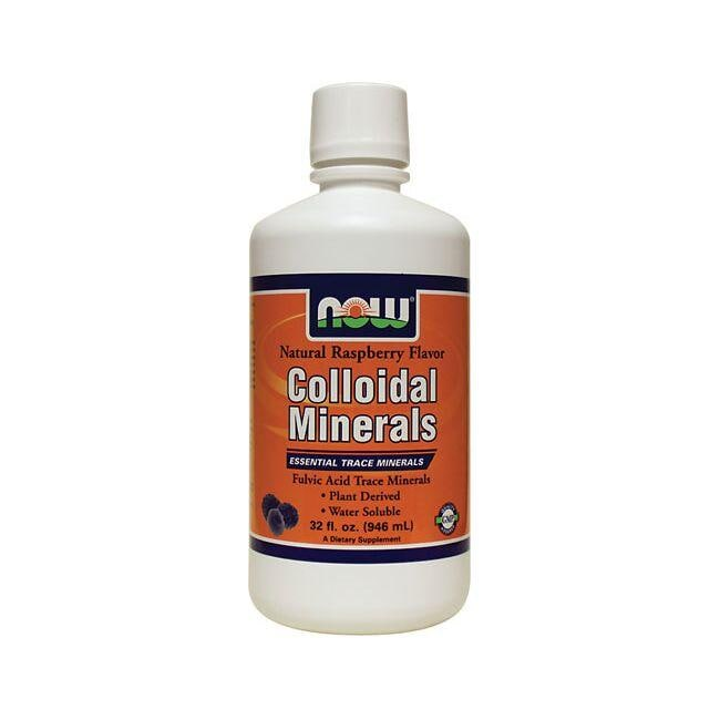 NOW Foods Colloidal Minerals - Natural Raspberry