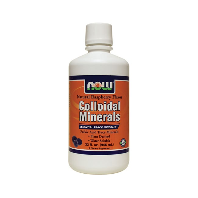 NOW Foods Colloidal Minerals Natural Raspberry Flavor