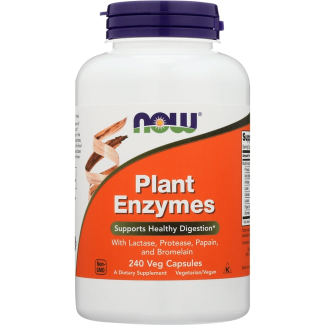 NOW Foods Plant Enzymes 240 Veg Caps - Swanson Health Products