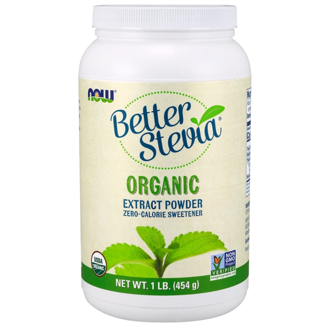 NOW Foods Better Stevia Certified Organic Extract Powder
