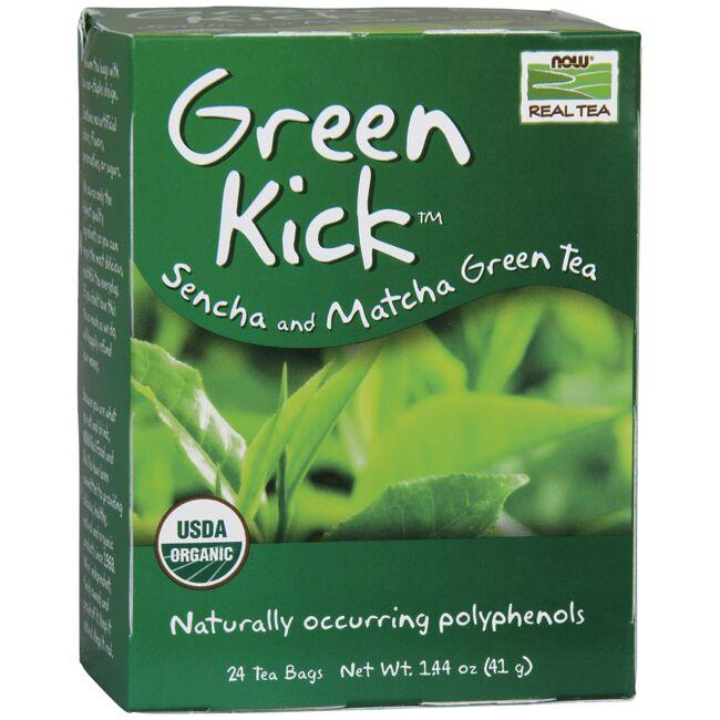 NOW FoodsGreen Kick Sencha and Matcha Green Tea