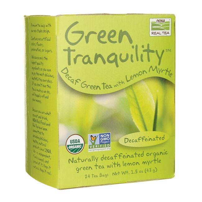 NOW FoodsGreen Tranquility Decaf Green Tea with Lemon Myrtle