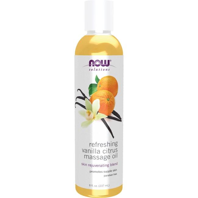 NOW Foods Refreshing Vanilla Citrus Massage Oil