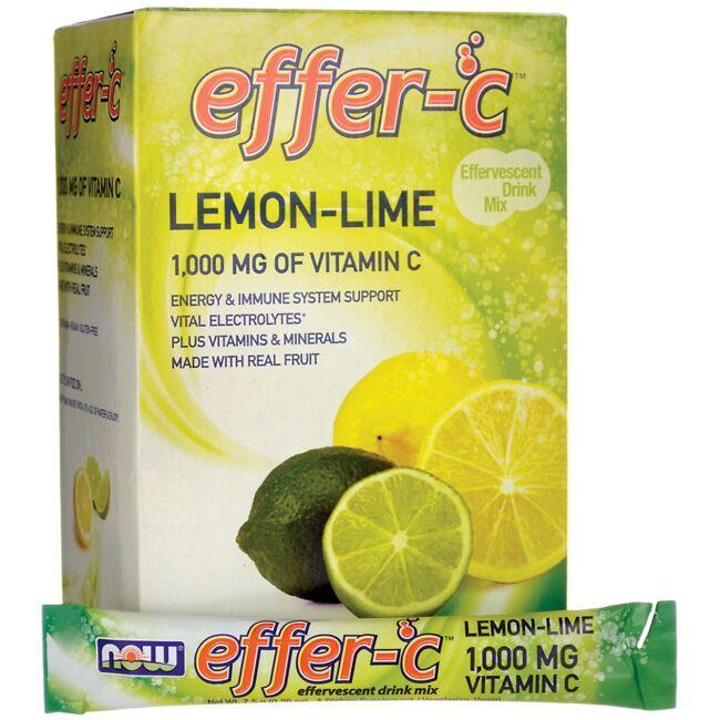 NOW FoodsEffer-C Effervescent Drink Mix Lemon-Lime