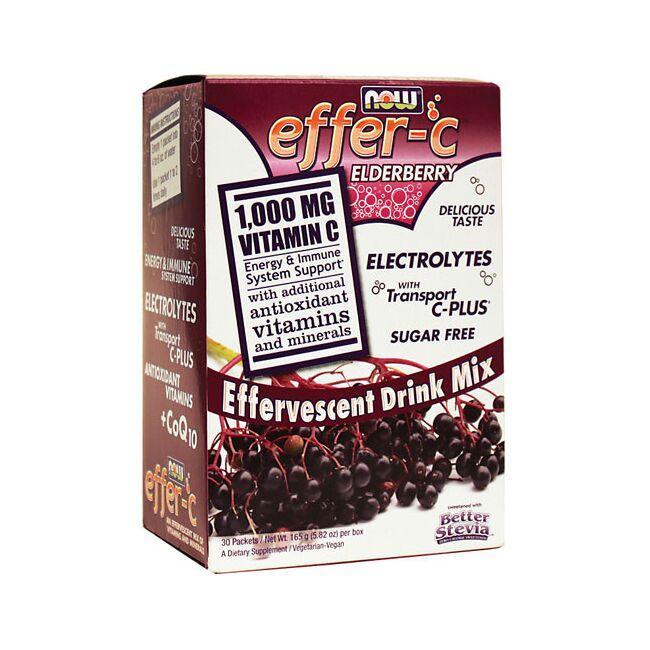 NOW FoodsEffer-C Effervescent Drink Mix Elderberry