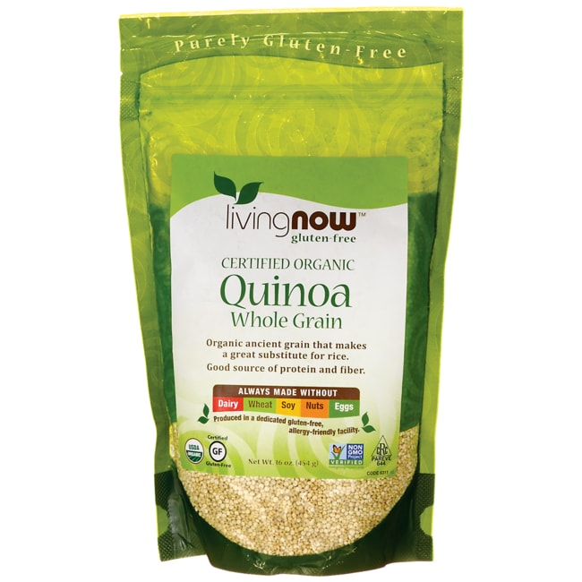 NOW Foods Living Now Certified Organic Quinoa Whole Grain