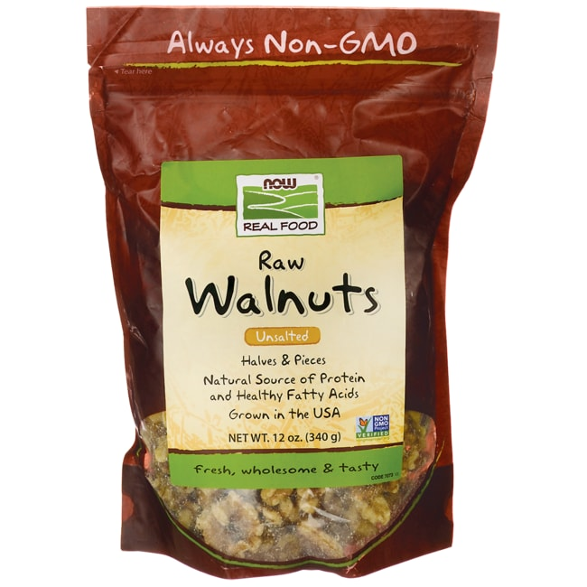 NOW Foods Raw Walnuts Unsalted