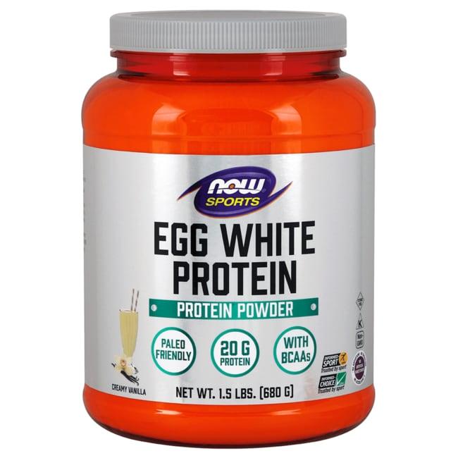 NOW FoodsEggwhite Protein Vanilla Creme