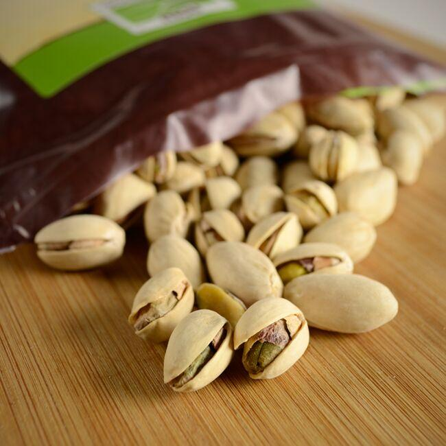 NOW FoodsRoasted Pistachios With Sea Salt Close Up