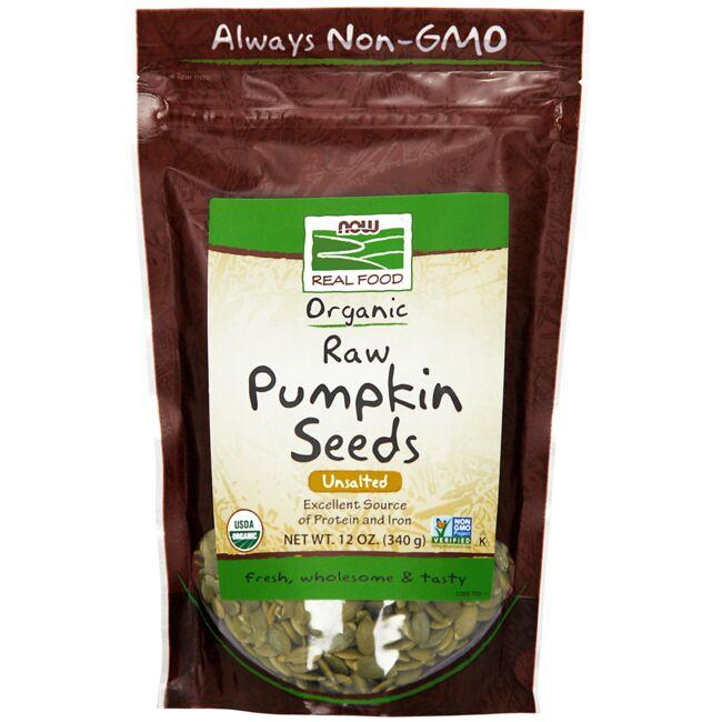 NOW Foods Organic Raw Pumpkin Seeds - Unsalted
