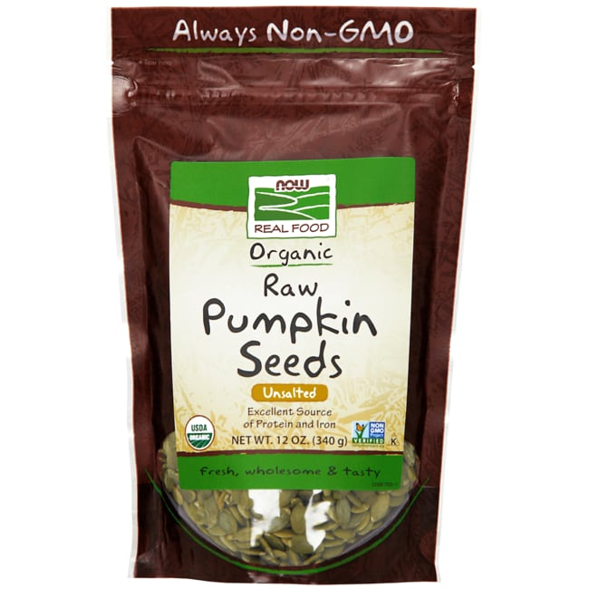 NOW Foods Organic Pumpkin Seeds Unsalted