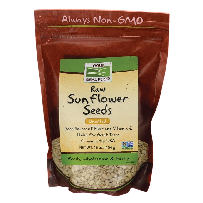 NOW Foods Raw Sunflower Seeds - Unsalted