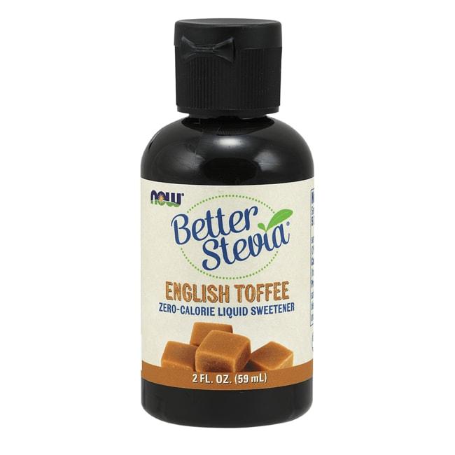 NOW Foods Better Stevia Liquid Sweetener - English Toffee