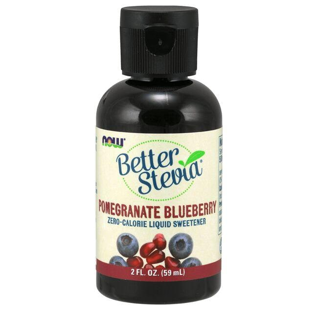 NOW Foods Better Stevia Liquid Sweetener - Pomegranate Blueberry