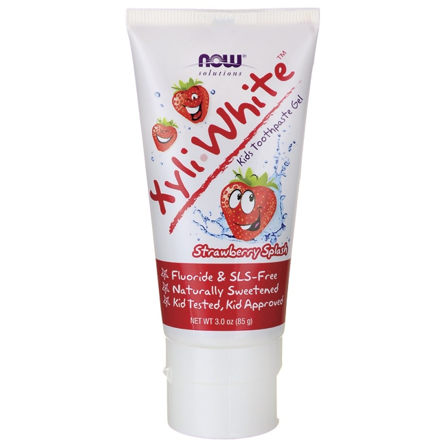 NOW FoodsXyliWhite Kids Toothpaste Gel - Strawberry Splash