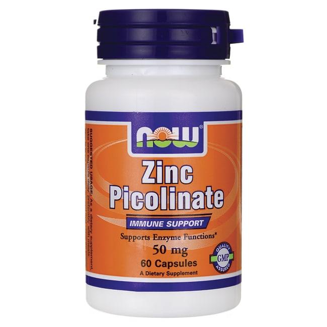 now foods zinc picolinate 50 mg 60 caps   swanson health
