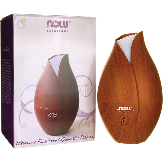 NOW FoodsUltrasonic Faux Wood Grain Diffuser