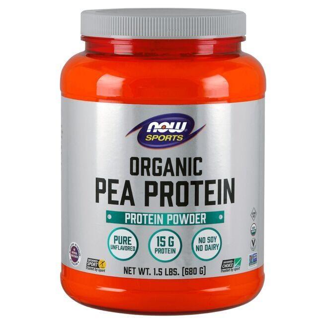NOW Foods Organic Pea Protein - Natural Unflavored
