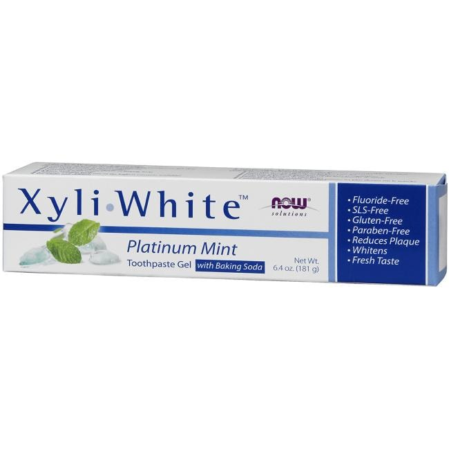 NOW FoodsXyliWhite Toothpaste Gel - Platinum Mint