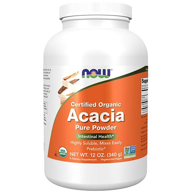 NOW Foods Certified Organic Acacia Fiber Pure Powder