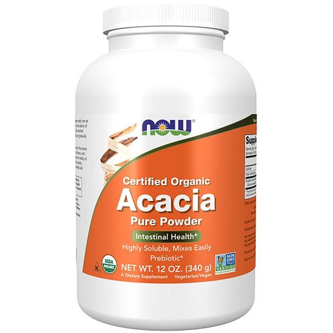 NOW Foods 100% Certified Organic Acacia Fiber