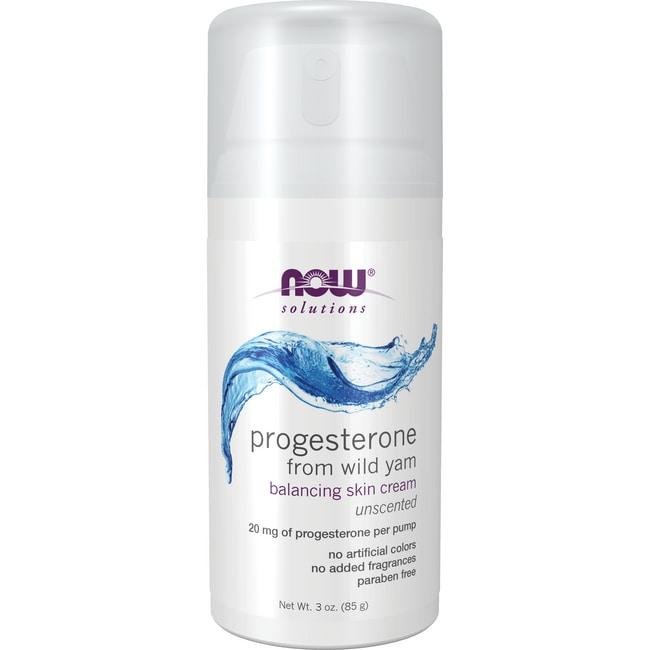 NOW Foods Natural Progesterone Liposomal Skin Cream - ScentFree