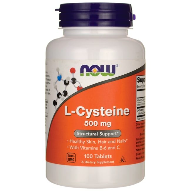 NOW Foods L-Cysteine 500 mg 100 Tabs - Swanson Health Products
