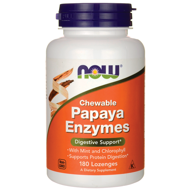 NOW FoodsPapaya Enzymes Chewable