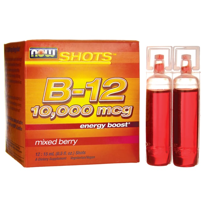 NOW FoodsShots B-12 Energy Boost Mixed Berry