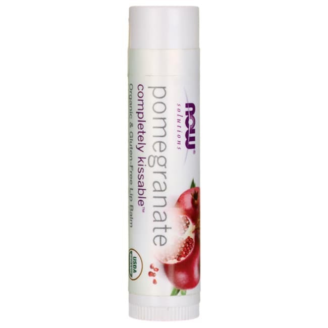 NOW Foods Completely Kissable Lip Balm Pomegranate