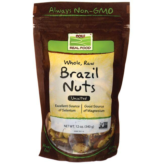 NOW Foods Whole, Raw Brazil Nuts - Unsalted