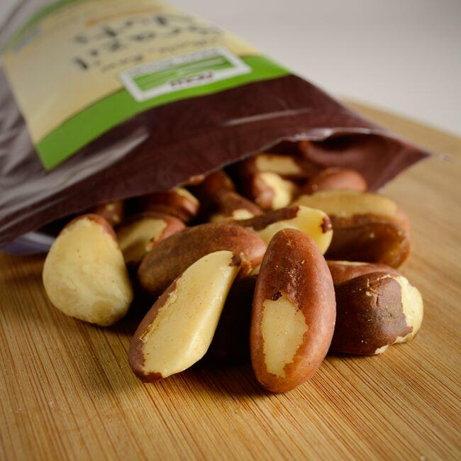 NOW Foods Whole, Raw Brazil Nuts - Unsalted Close Up