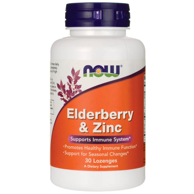 Elderberry and zinc lozenges